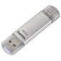 Preview: hama C-Laeta Twin 64GB silber USB Stick Type-C Handyshop Linz MobileWorld