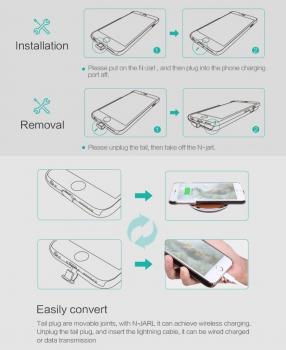 induktives qi case nillkin n jarl braun iphone 6 6s plus. Black Bedroom Furniture Sets. Home Design Ideas