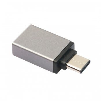 OTG Adapter Type-C Aluminium grau