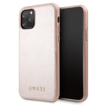 GUESS Iridescent Cover Handycover iPhone 11 - Pro - Max rose