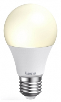 hama Smart Home WiFi-LED-Lampe E27 10W dimmbar weiß 176550