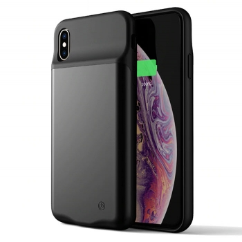 iPhone Xs Max Power Case Ladehülle 4000 mAh schwarz