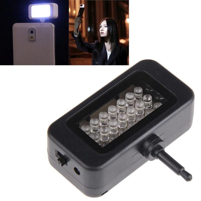 selfie lampe mit 21 led s f r optimale bilder im dunklen. Black Bedroom Furniture Sets. Home Design Ideas